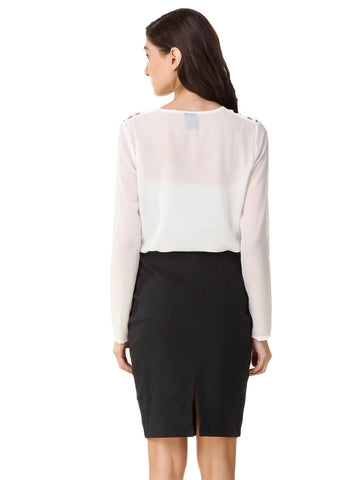 Texco Cut Out Shoulder Top