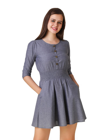 Texco Chambray Skater Dress
