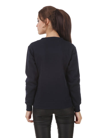 Texco High Low Studs Detailing Winter Sweatshirt