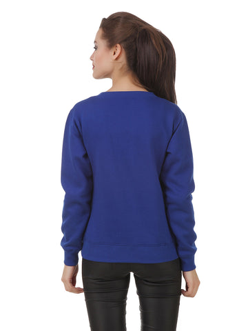 Texco High Low Studs Detailing Winter Sweat Shirt