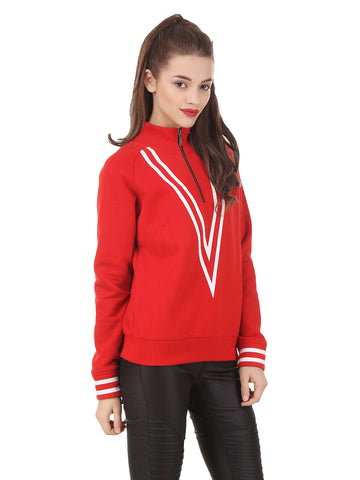 Texco Hi-Fashion Mock Neck Sporty Casual Look Winter Sweatshirt