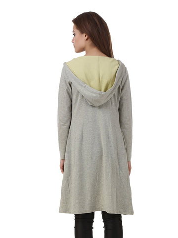 Texco Melange Long Sleeve Winter Hooded Shrug
