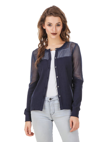 Texco Front Button Placket High-Low Versatile Shrug