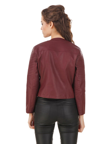 Texco Quilted Leather Biker Jacket
