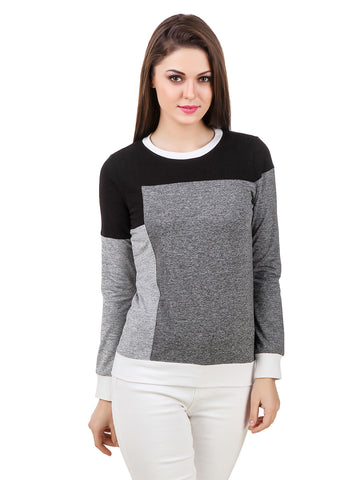 Texco Color Block Round Neck Sporty Look Smart Casual Tee