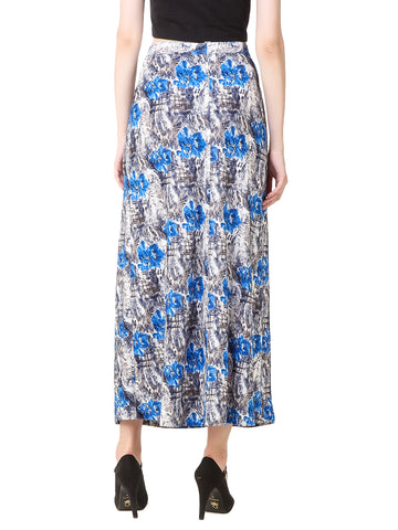 Texco Floral Printed Front Slit Skirt