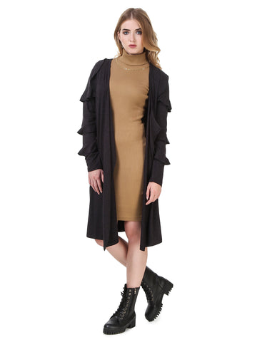 Texco Long line Ruffled Long sleeve Smart Casual Cardigan/Shrug