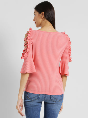 Texco Women Pink Embellished Top