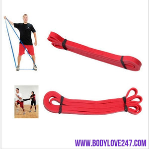 Resistance Bands Latex Crossfit resistance bands fitness body gym power training powerlifting pull up red GYM Exercise Equipment
