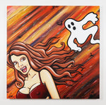 "BOO! 36""x36"" Canvas Painting"