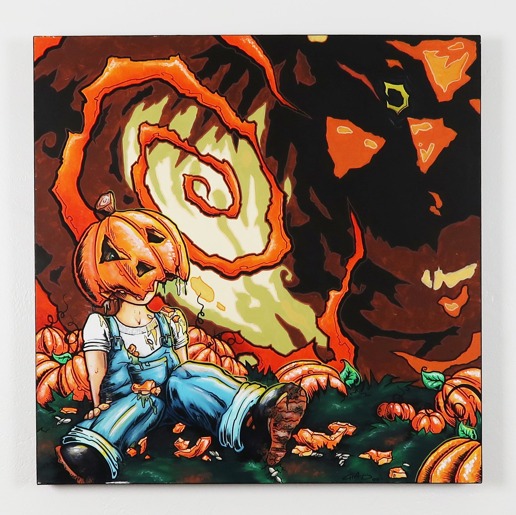 "Jack Got Jacked - 24""x24"" Canvas Painting"