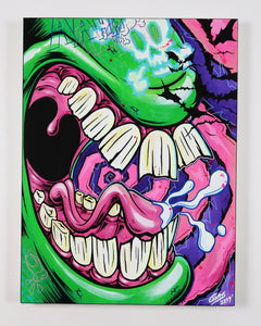 "Monster Mouth 2 - 18""x24"" Canvas Painting"