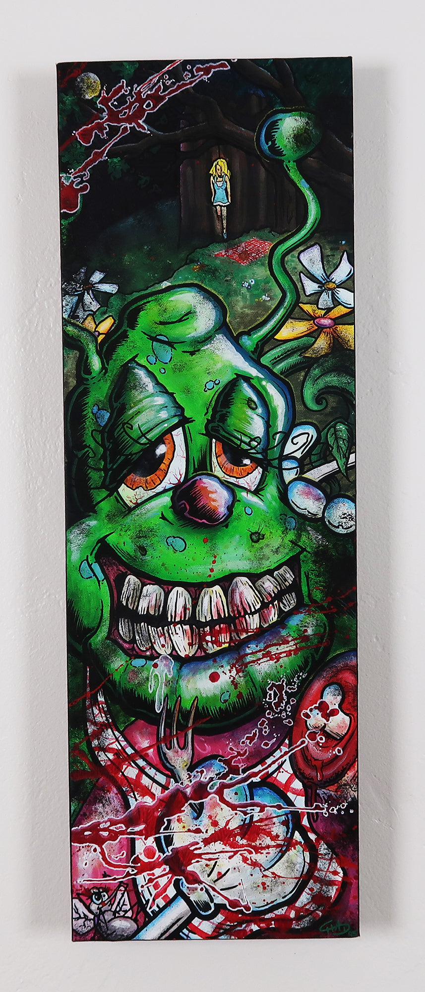 "Eileen in Wonderland 8""x24"" Canvas Painting"
