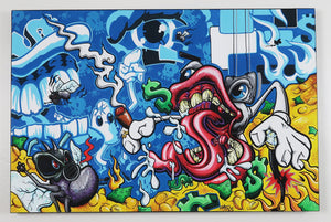 "Money Pit- 36""x24"" Canvas Painting"