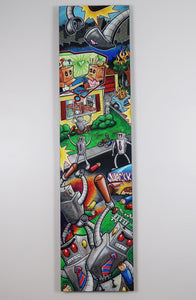 "Seek and Destroy - 15""x60"" Canvas Painting"
