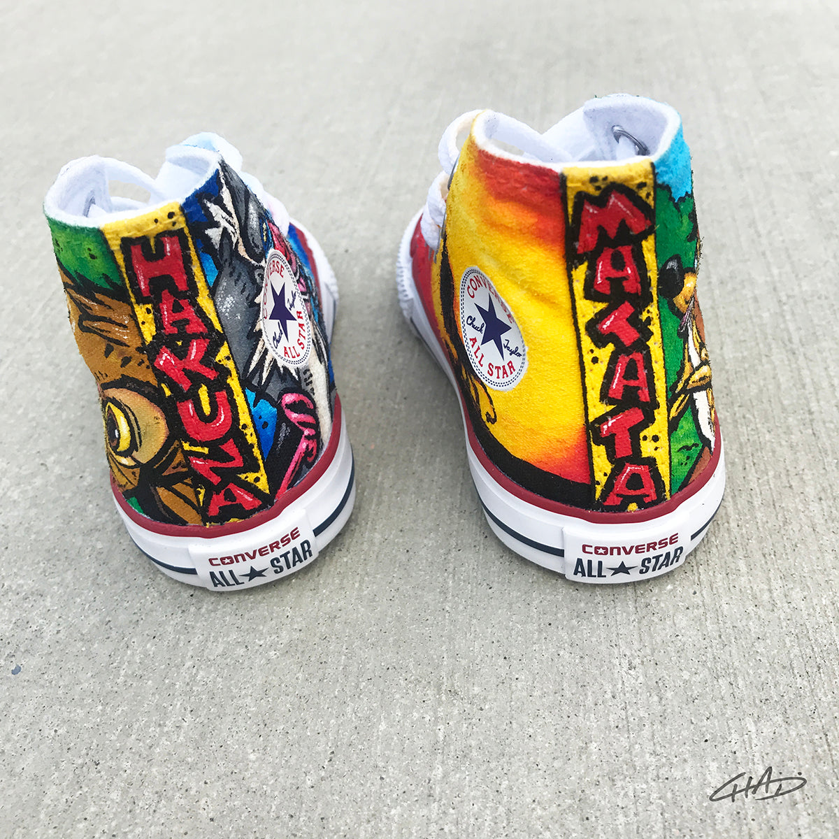 Lion King Custom Hand Painted Toddler Converse Chucks