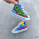 Fresh Prince Custom Hand Painted Toddler Converse Chucks