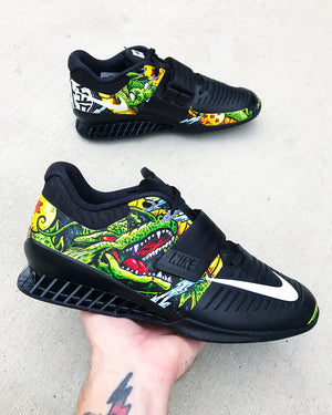 DBZ Hand painted Nike Romaleos 3 olympic weightlifting crossfit shoes