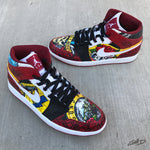 Gods of Rock GNR Custom Hand Painted Jordan Retro 1 Shoes