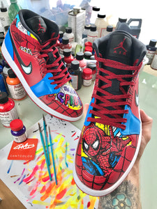 Spider-Man Custom Hand painted Jordan Shoes