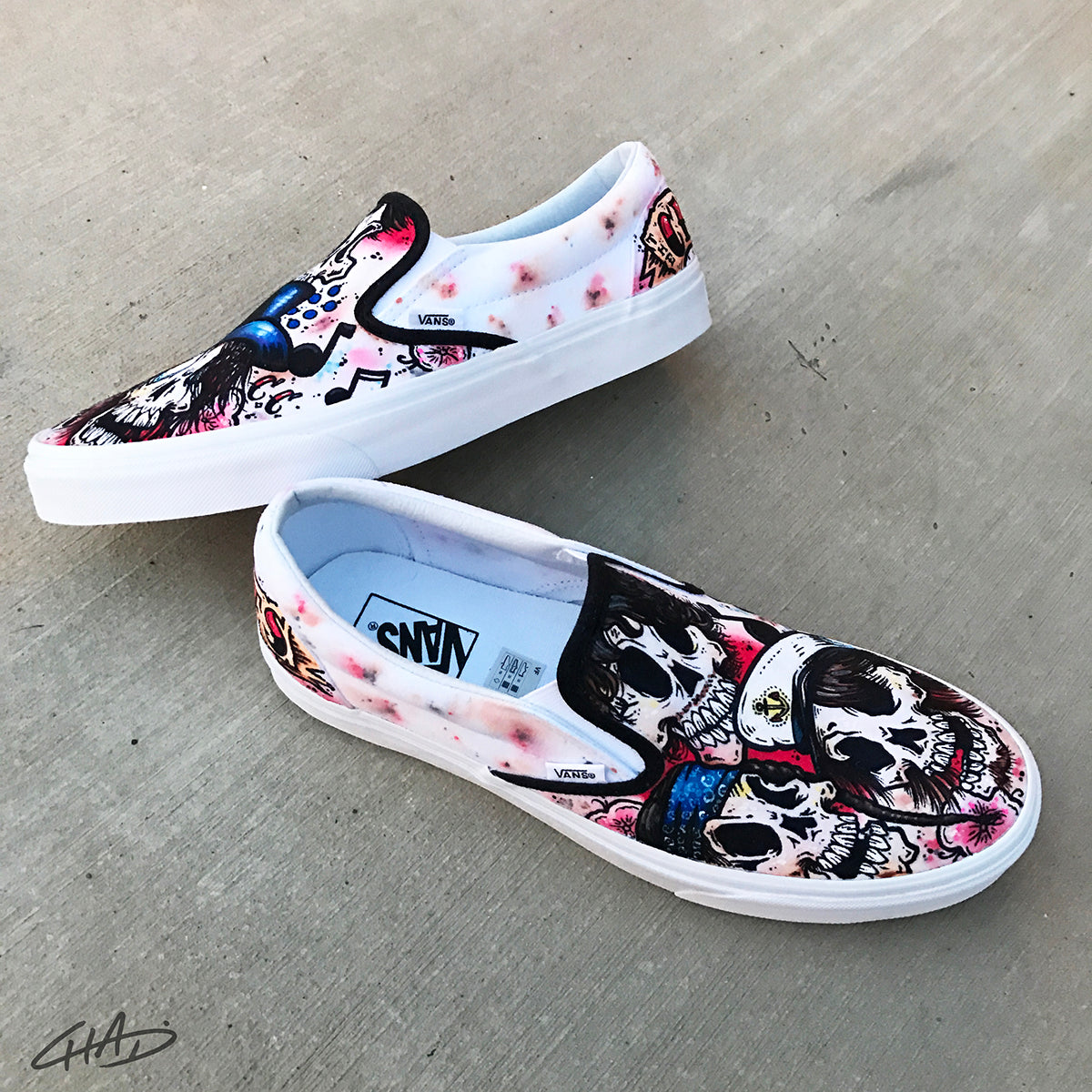 Cherry Cokes Custom Hand Painted Vans Authentic Shoes