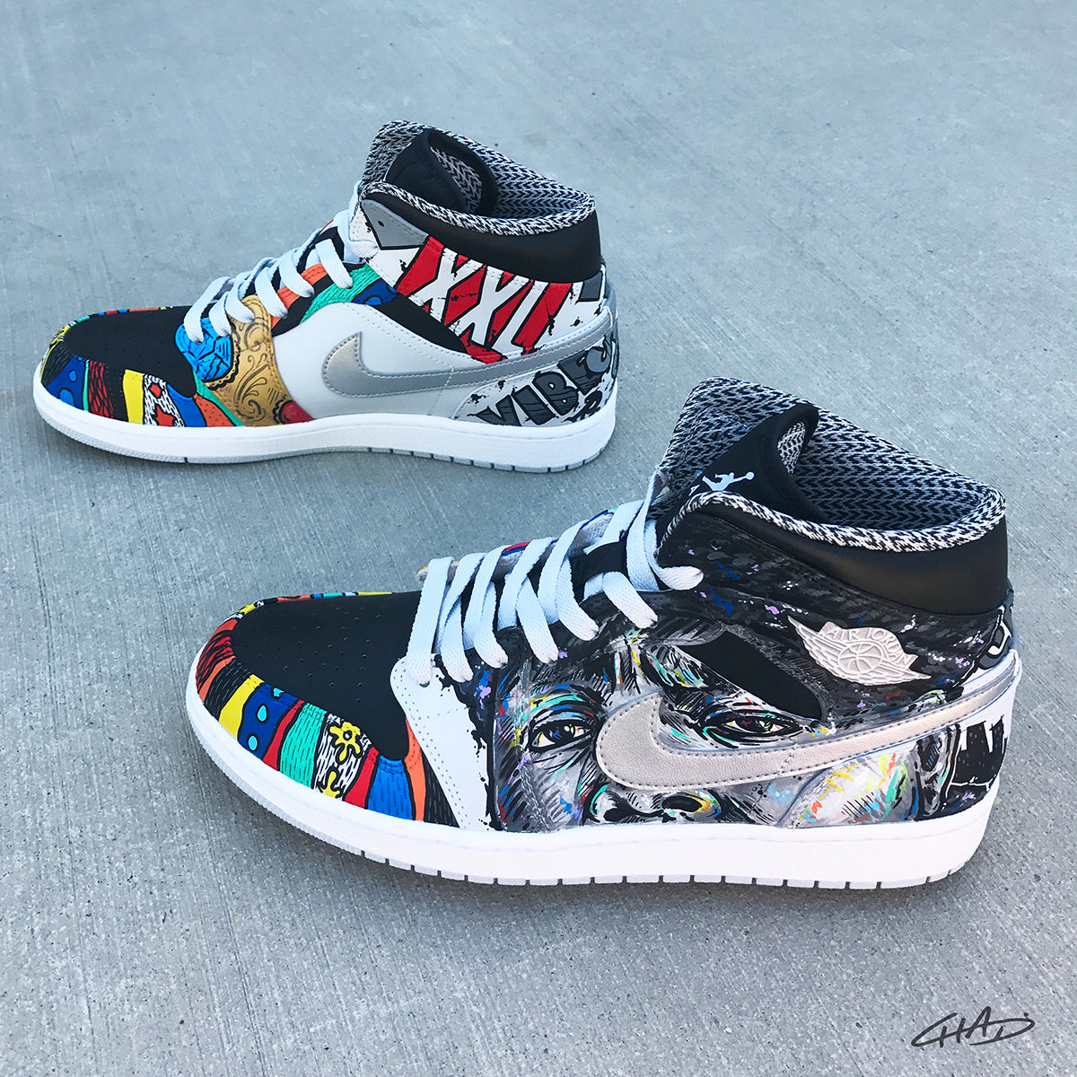 Notorious - Custom Hand Painted Jordan Retro 1 Shoes