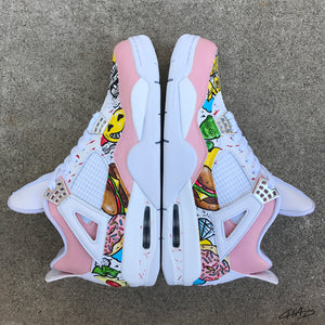 Fast Food 4's - Custom Hand Painted Jordan retro 4 shoes