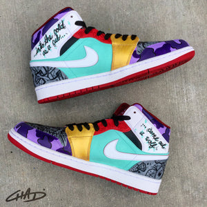 What the Life Stories - Custom hand painted Jordans