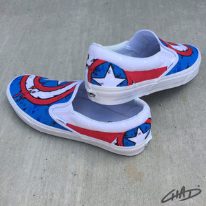 Captain America Custom hand painted Vans