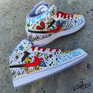 wholesale dealer 59c06 786e0 Tattooed - Custom Hand Painted Jordan retro 1 s