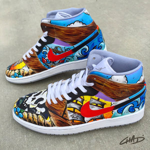 A Pirates Life Custom Hand painted Jordan Shoes