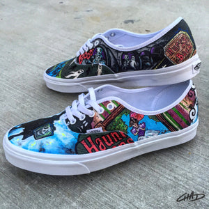 Disney's Haunted Mansion theme hand painted Vans shoes