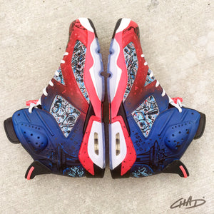 Tha Creature  - Jordan retro 6 Hand Painted shoes