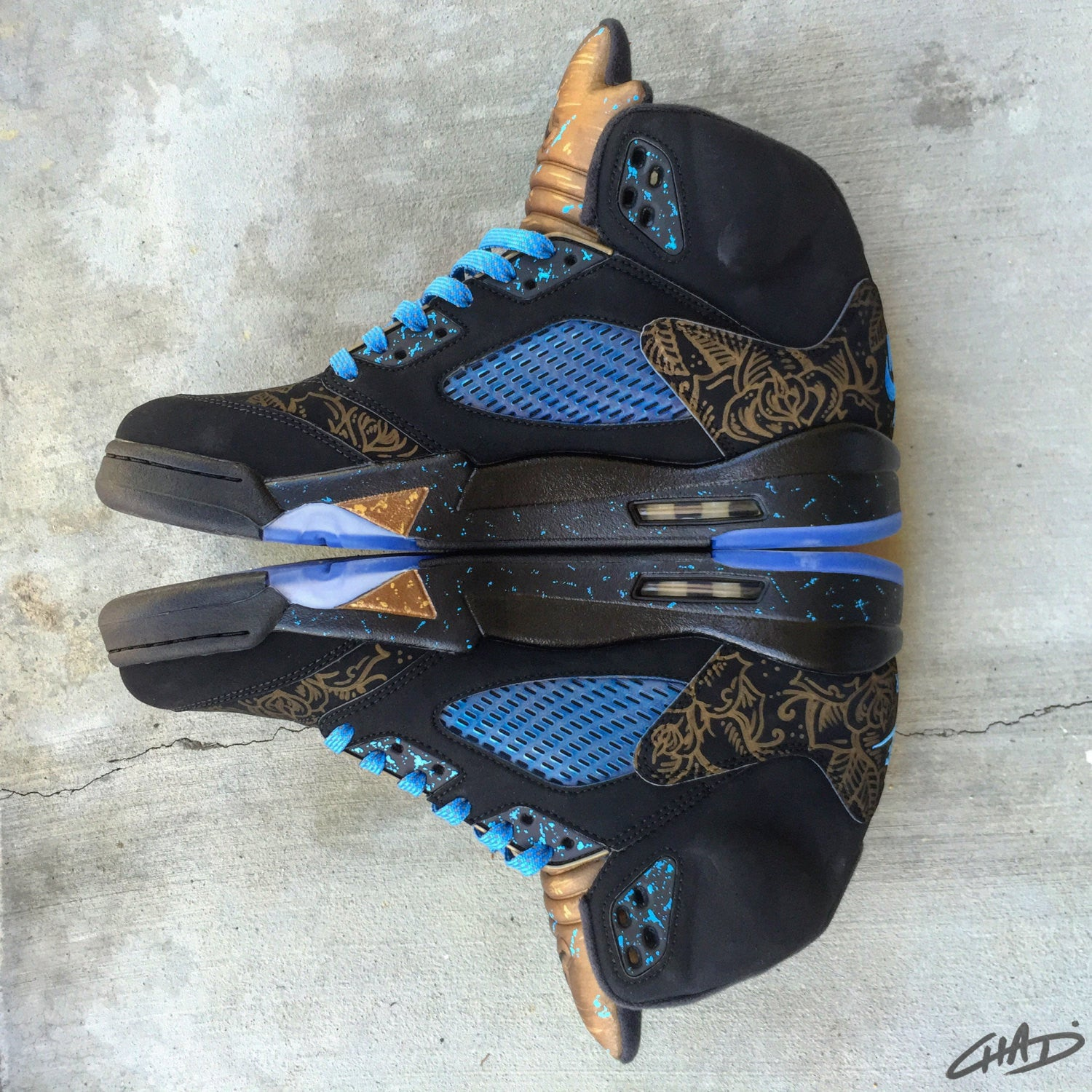 Pure Alloy - Custom hand painted Jordan retro 5 shoes