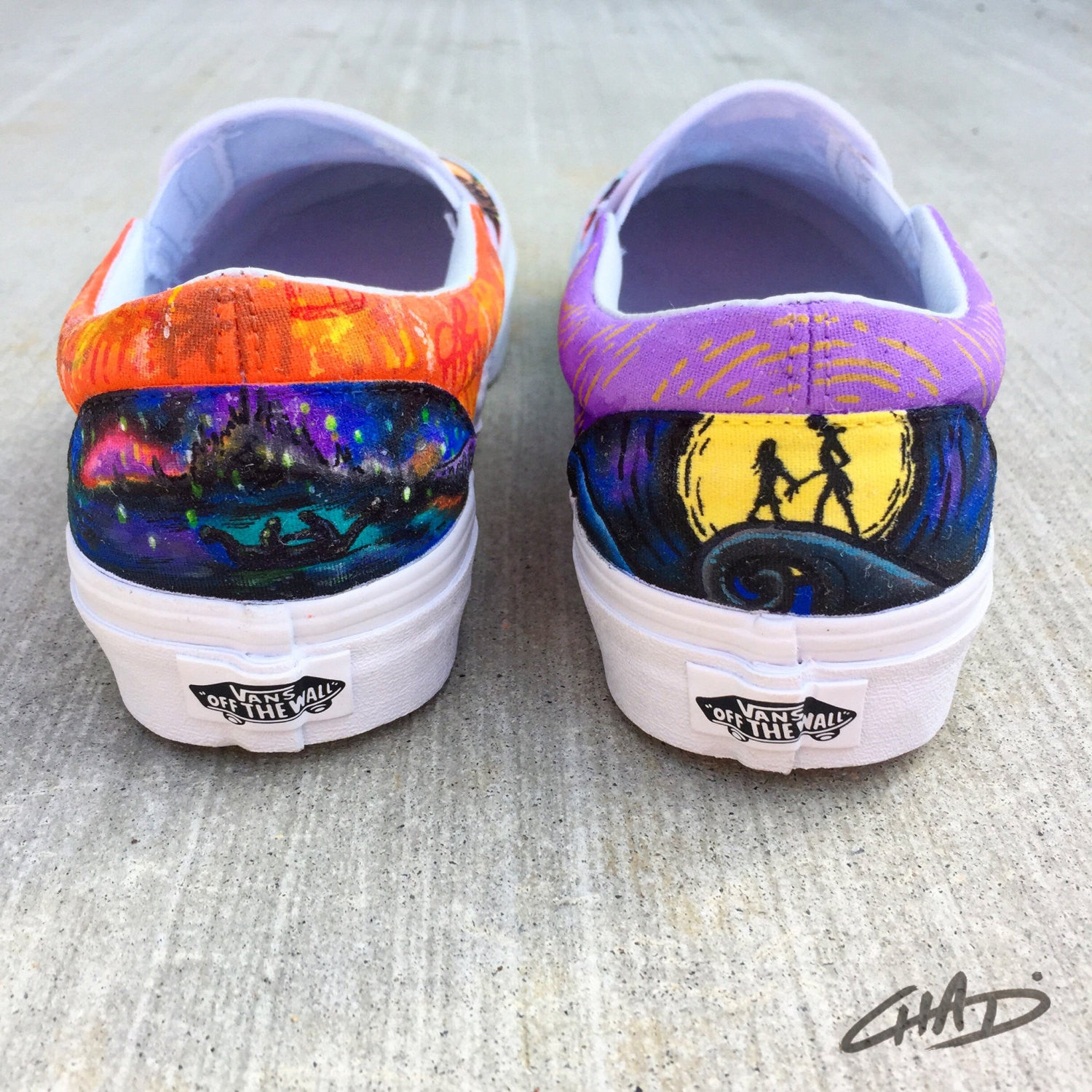 18bdee7053e5ff Tangled Nightmare Before Christmas Disney Mash up handpainted Vans shoes