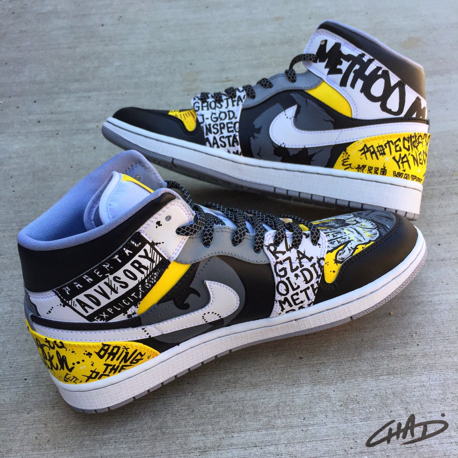 WuTang Custom hand painted Jordan shoes