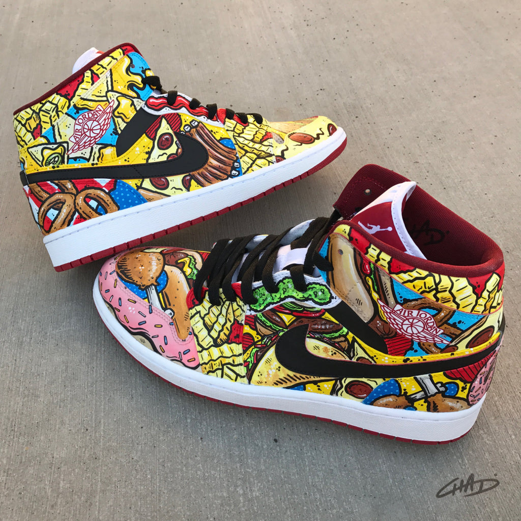 Munchies Custom Hand Painted Jordan retro 1 shoes