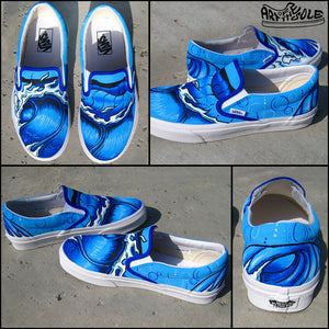 Hang Ten Custom Hand Painted Vans Classic Slip Ons