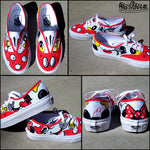 Mickey Loves Minnie Hand Painted Vans Shoes