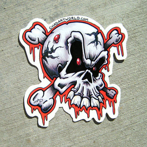 Skully - Custom Art Sticker