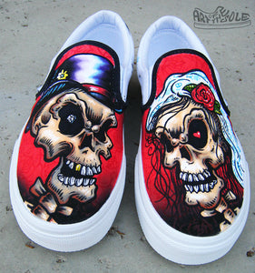 Till Death - Custom Hand Painted Vans Shoes