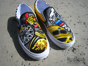 Autobahn - Custom Hand Painted Vans Shoes