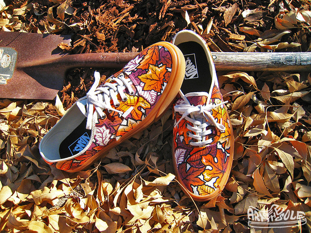 AUTUMN - Custom Hand Painted Vans Authentic Shoes