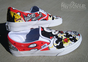 Disney Themed Wedding Vans Custom hand painted