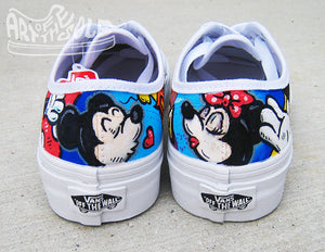 Custom Hand Painted Disney Parks' Themed Vans Shoes