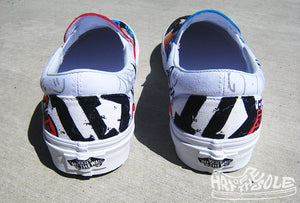 One Direction Band Custom Hand Painted Vans Shoes