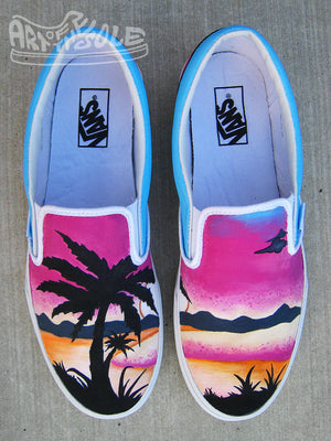 Sunset Dreams - Custom Hand Painted Vans Shoes