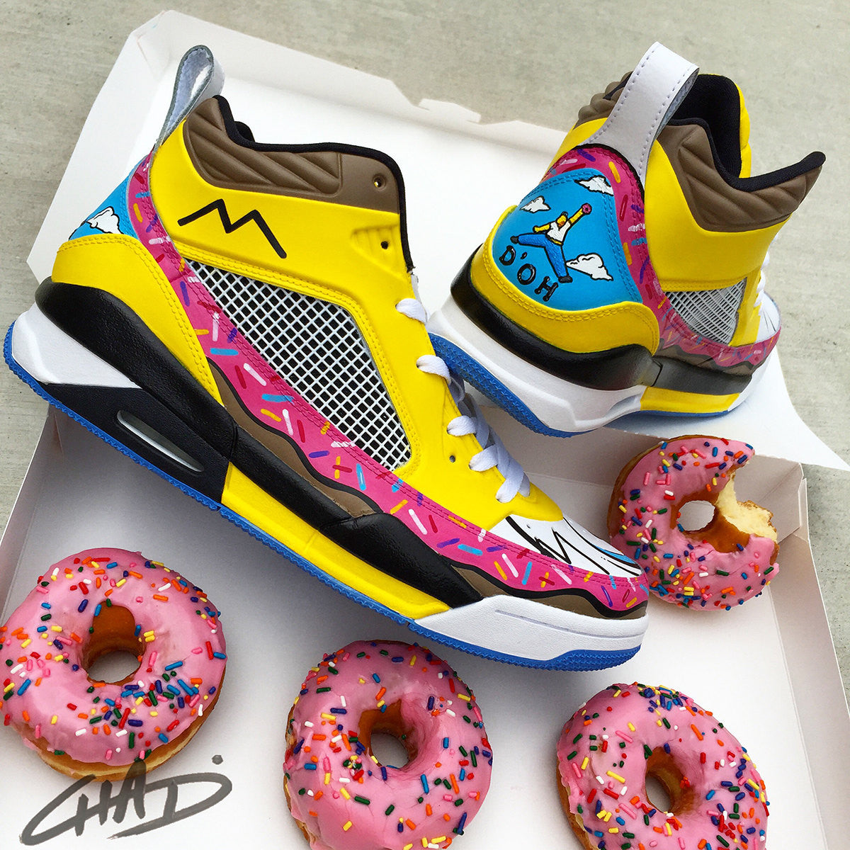 HOMER J'S - Custom Hand Painted NIKE Jordans
