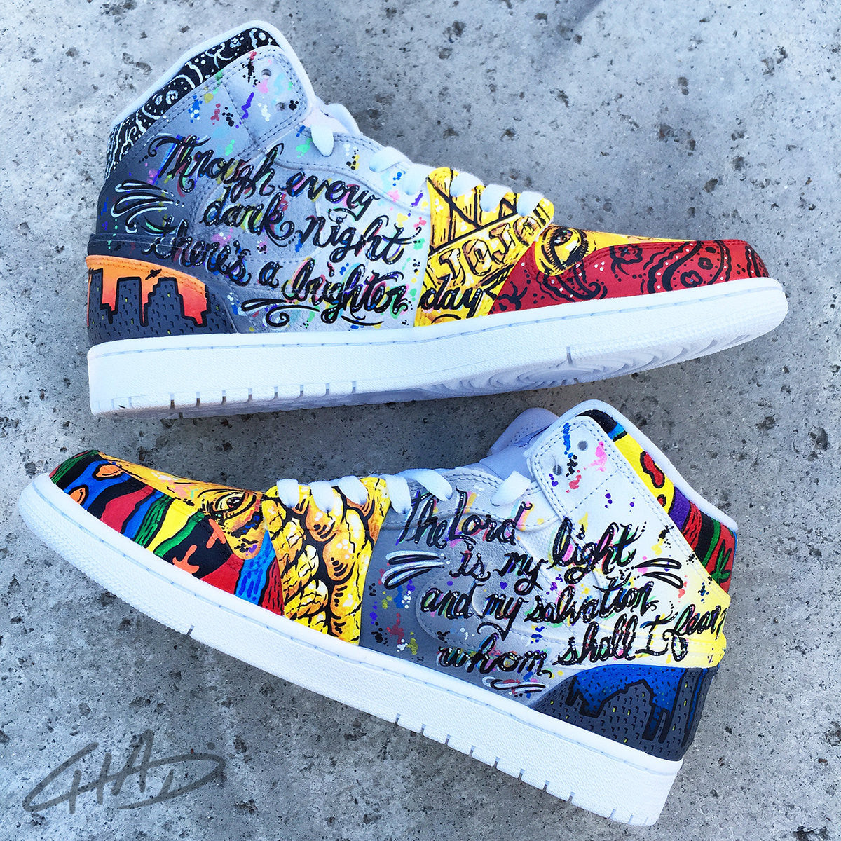 LEGENDS - Tupac and Biggie Custom Hand Painted Jordan retro 1 shoes