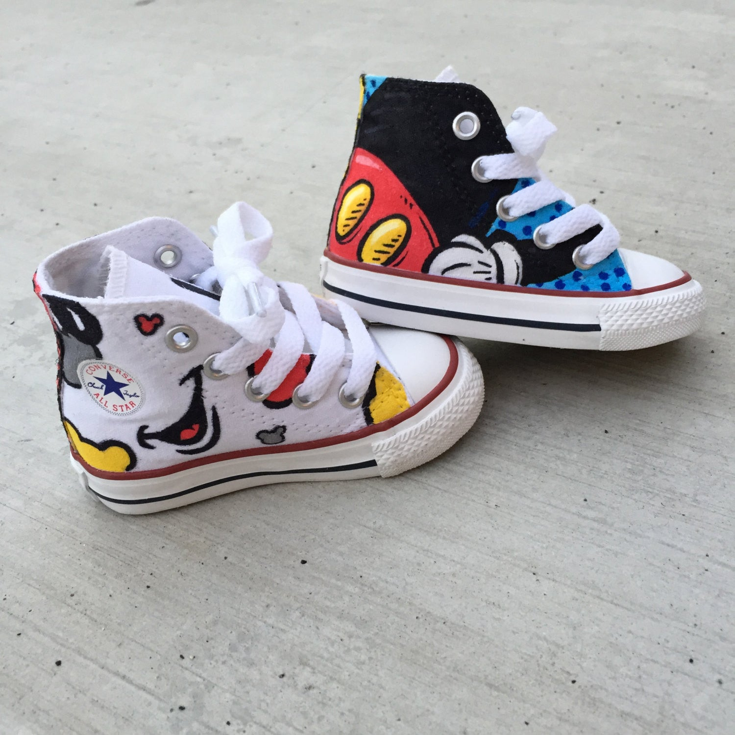 Custom Hand Painted Toddler Mickey Converse Chucks